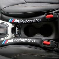 M perfomance M3 Car Seat Gap Filler Black Leather Accessory Cover Spacer For BMW