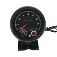 Black Durable Tachometer Tacho Gauge 3.75