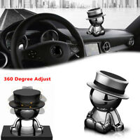 Silver 360° Rotation Magnetic Phone Mount Holder Car Dashboard Stand Accessories