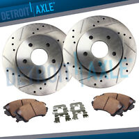 Front Disc Drilled Slotted Brake Rotors & Ceramic Pads 2008 - 2016 Avalon Camry