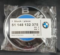 BMW Emblem 82mm Genuine Hood/Trunk Logo Replacement- Grommets Not Needed (2 Pin)