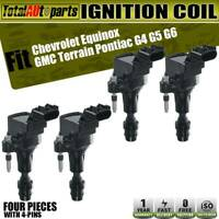 4x Ignition Coil for Buick LaCrosse Regal Chevy Impala Malibu L4 2.0L 2.2L 2.4L