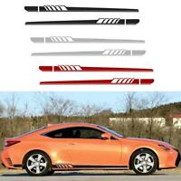 2pcs Car Auto SUV Side Body Vinyl Decals Long Stripe Stickers for Mercedes-