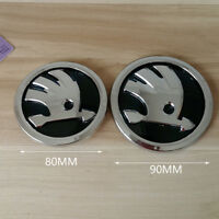 Fit for SKODA 90mm + 80mm Front and Rear EMBLEM for OCTAVIA FABIA ROOMSTER YETI