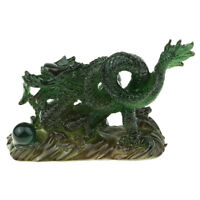 Resin Dragon Totem Wishes Ornament for Home Office Desktop Decoration Green