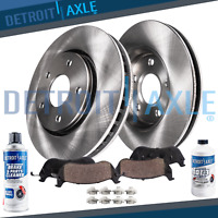 Front Brake Rotor + Ceramic Pad for 2001 2002 2003 - 2007 Town & Country Caravan