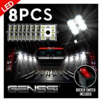 LED Truck Bed Lighting kit Cool White Super Bright 8pcs Set