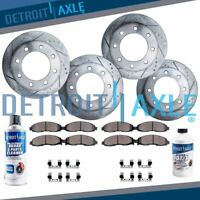 Front & Rear DRILLED Brake Rotors + Ceramic Pads Silverado Sierra 2500 3500 SRW