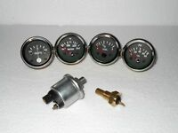 With Oil temp Sender 52mm Electrical Oil Pressure Temp Amp Fuel Gauge BH