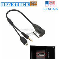 US For Mercedes Benz MMI Music Interface AUX Cable USB Cord Charging iPod iPhone
