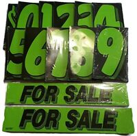 Vinyl Numbers and For Sale Decals Adhesive Windshield Price Advertising Used Car