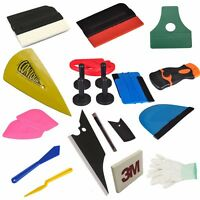 Car Window Scraper Wrapping Tint Vinyl Film Squeegee Cleaning Install Tool Kit