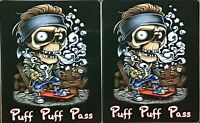 RAT ROD HOT ROD STREET ROD  STICKER CHOPPER  GONJA 420 WEED POT RAT FINK