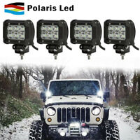For Ford Truck&Car 4PCS 18W LED Light Bar USA Front 4inch Flood Beam