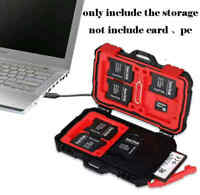 2 in 1 USB3.0 Card Reader Micro SD CF SD TF Memory Card Waterproof Storage Case