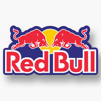 2x RED BULL Vinyl Sticker Decal Car Truck Window Laptop Racing Ski Snow F1 Logo