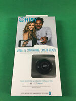 Hisy Wireless Smartphone Camera Remote for Apple/Android - Black Color
