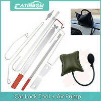 Car Door Lock Out Emergency Open Unlock Key Tools Kit + Black Air Pump Universal