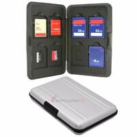 Micro D Cards Memory Card Storage Box Case Holder + 8 Slots for SDHC MMC H2