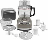 KitchenAid KFP1133ACS 11-Cup Food Processor ExactSlice, Architect Cocoa Silver