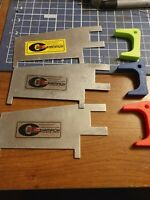 Used Champion Slot car tech gages and 3 new 3 D printed rear spoiler height gage