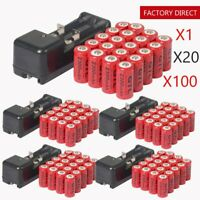CR123A 16340 123A 3.7V 2300mAh Red GTL Rechargeable Battery+ GTL Charger LOT HY