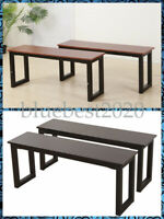 2pcs Iron Frame Benches Modern Kitchen Room Dining Room Chairs Supplies