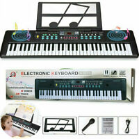 Portable Electronic Keyboard Piano 61 Key W/Music Stand Microphone ForKids/Adult
