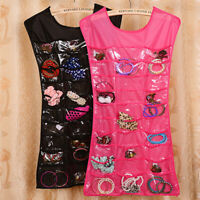 Bracelet Earring Ring Necklace Pocket Hanging Jewelry Organizer Pouch Holder
