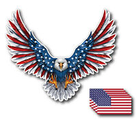 6pk American Flag Bald Eagle USA Decal Sticker 3M Truck Vehicle Window Wall Car