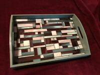 Arts and Crafts Style Serving Tray in Gray