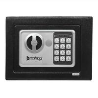 Home Electronic Safe Box W/ Code Emergency Key Security Steel High Performance