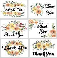 96 Thank You Cards & Envelopes 6 Vanilla Floral Blank Note, Blank Note 4x6 NEW