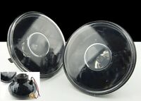 BLACK PROJECTOR SEALED BEAM H6024 GLASS CONVERSION HEADLIGHT LAMP CHEVY