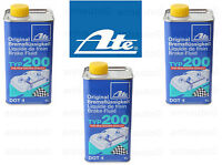 Set of 3 ATE DOT 4 TYP 200 –  Brake Fluid   (High Boiling Point)