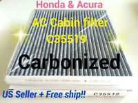 CARBONIZED C35519 For HONDA ACURA CABIN AIR FILTER Accord Civic CRV Odyssey...