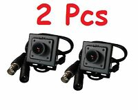2 x High-Resolution Mini Pinhole CCD Security Camera Indoor Hidden Surveillance