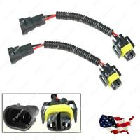 2x H11 Extension Wire Harness For Day Time Running Fog Driving Lights