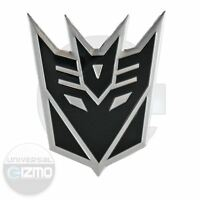 Transformers Decepticon Car and Window Aluminum Decal - Black