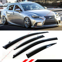 FOR 2014-18 LEXUS IS250 IS350 IS200T VIP STYLE CLIP ON SMOKE TINTED WINDOW VISOR