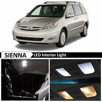 19x White Interior LED Light Replacement Package Kit Fit 2004-2010 Toyota Sienna