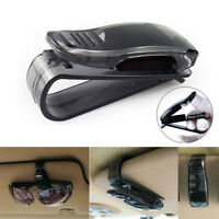 Universal Car Auto Sun Visor Glasses Sunglasses Card Ticket Black Holder Clip