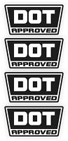 DOT Approved Motorcycle Helmet Stickers   Hard Hat Welding Decals D.O.T. Safety