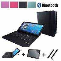 3in1 Set Bluetooth Tastatur Tablet SAMSUNG TAB A SM T585NZWA LTE 10.1