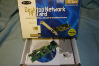 NEW!  Belkin F5D5000  10/100 Desktop Ethernet Network PCI Card!!!
