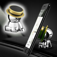 Gold 360°Rotation Accessories Stand Holder Car Dashboard Magnetic Phone Mount