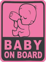 BABY ON BOARD Baby safety Graphic Sticker Decal funny 3