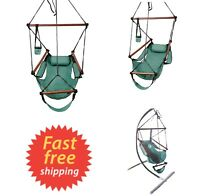Hammock Swing Chair Hanging Rope Portable Porch Lounge Seat for Indoor Outdoor