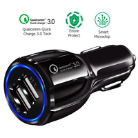 Qualcomm 3.0 Quick Charge 24V Dual USB 24W Car Cigarette Lighter Socket Charger