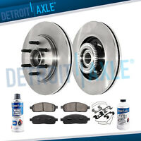 Front Brake Rotors + Ceramic Pads 2005 2006 2007 2008 FORD F-150 RWD 2WD 6-Lug